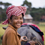 Herding-a-buffalo-in-Kampot