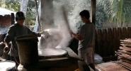 Vinh Long - Making rice paper